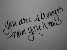 Women: You are stronger than you know!