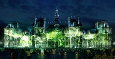 """Green Artists Making Climate Change A Priority.""""One Beat One Tree"""" projects virtual forests onto city spaces, blurring the boundaries between the natural world and advancing technology. Art Environnemental, Famous Buildings, Park In New York, Dutch Artists, One Tree, Environmental Issues, Go Green, Green Art, Land Art"""