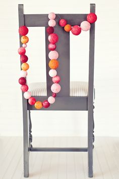 DIY bright ball garland
