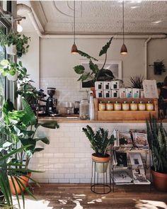 Showpieces For Home Decoration Cafe Shop Design, Coffee Shop Interior Design, Restaurant Interior Design, Home Interior, Modern Restaurant, Cafe Plants, Coffee Shop Aesthetic, Small Coffee Shop, Cozy Cafe