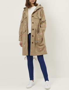 Military Dragonfly Garden Parka | Needle & Thread | Avenue32