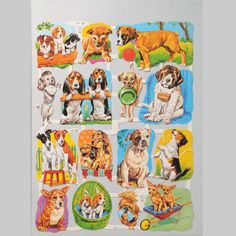 Dogs Scrap Sheet 1 - Standard Series - Scrap Reliefs - Mamelok Papercraft - Embossed, diecut Victorian scrap reliefs, cards, masks, cards, friezes, garlands, dress-up dolls