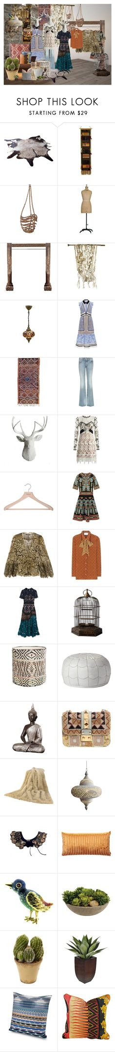 """""""Untitled"""" by cassidylove on Polyvore featuring NOVICA, WALL, self-portrait, Gucci, White Faux Taxidermy, PERIGOT, M Missoni, Roberto Cavalli, Nordstrom and Serena & Lily"""
