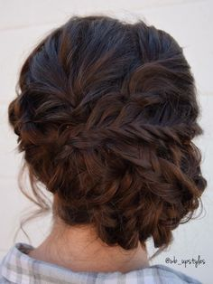 All braids four this bridesmaid updo style. Hair by Whitney at Luxe Lancaster, PA