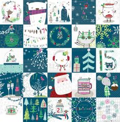 Ric-Rac: Advent mania over - here is the whole thing. Cheers for all the lovely comments.Have fun!