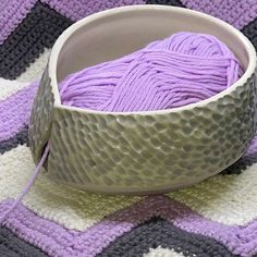 Yarn bowl order (prototype) for a special mum who prides herself on being a 'Happy Hooker' 😀 . Scroll if you're interested in the… Crochet Gifts, Free Crochet, Pottery World, Grandma Crafts, Pottery Designs, Pottery Ideas, Ceramic Glaze Recipes, Wheat Free Recipes, Yarn Bowl