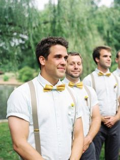 Bowtie and suspenders, groomsmen suspenders, bowties, wedding ties, wedding groom Groom Attire, Groom And Groomsmen, Team Groom, Groom Suits, Wedding Ties, Wedding Attire, Wedding Groom, Wedding Ceremony, Bowtie And Suspenders