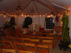 The altar awaits at a country-themed fall outdoor wedding ceremony. Birch Hill Events #NY #Wedding #Albany