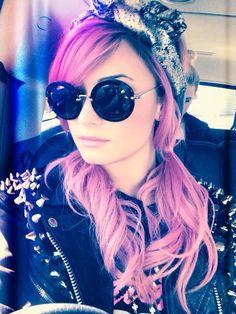 Demi Lovato Vintage Leather & Pigtails - http://oceanup.com/2014/02/21/demi-lovato-vintage-leather-pigtails/
