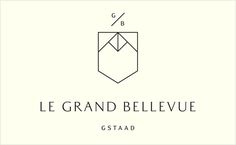 Le Grand Bellevue / Hotel / Logo / Design / Luxury / Classy / lines / black and white   Designed by London design agency Construct