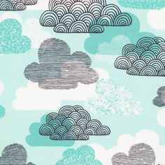 133702 Passing Clouds | Blue Quilter's Cotton from First Light by Eloise Renouf for Cloud9 Fabrics