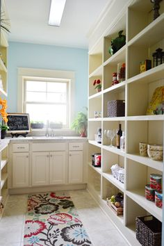 Separate prep kitchen/ huge pantry.   House Crashing: Four A Good Cause | Young House Love