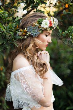 Dahlia  Wedding Lace Bridal Dress  Bridal Gown  by MarisolAparicio, Boho-Chic, Bohemian, Boho Bride