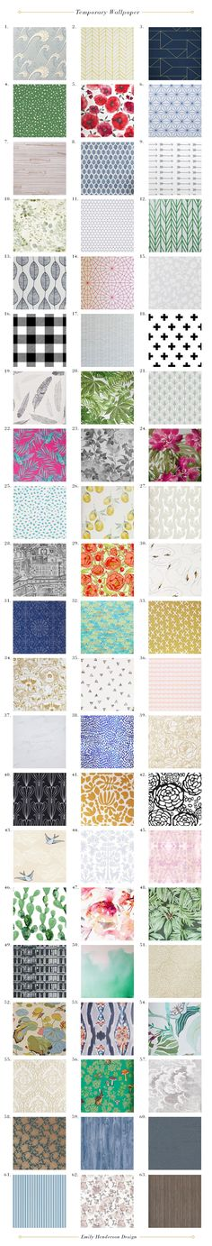 Emily Hendersons 63 Favorite Temporary Wallpaper Patterns