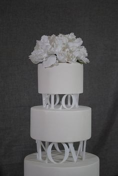 Love Circle Wedding Cake Topper Tier Spacers by Chicago Factory
