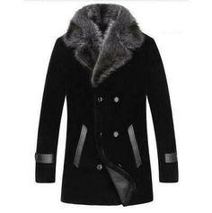Mens Winter Coat, Winter Jackets, Fall Winter, Winter Coats, Wool Coat, Fur Coat, Fur Collar Jacket, Leather Jacket, Jacket Men