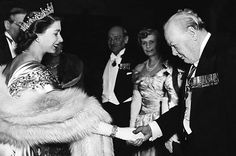 Princess Elizabeth and Winston Churchill on March 23, 1950.    Keystone-France / Gamma-Keystone / Getty Images