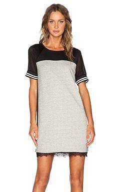 Maison Scotch Baseball Dress in Black & Light Grey