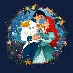 Magical Moments: Ariel & Eric #thelittlemermaid #mermaid #ariel #magicalmoments #disney #disbeylove #disneyfan #disneyart #disneypic #arielanderic
