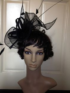30e3d232935 2013 Newest Church Kentucky Derby Sinamay Fascinator Navy Blue Hat Headband  Bridal Church Derby Cocktail
