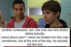 For real. Did no one notice that he considered throwing himself off the roof after cam died?????