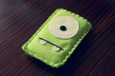 Felt Monster Phone or iPod Sock/Cover by BABUA  Green by babua, $10.00