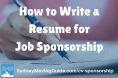 How to Write a Resume for Job Sponsorship in Australia