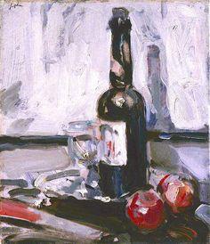 Still Life with a Bottle Samuel Peploe