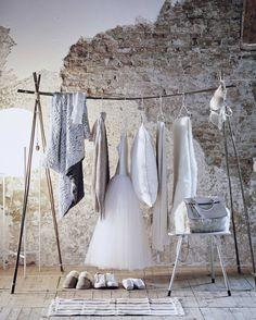 Bamboe kledingrek | Bamboo clothes rack | Styling Valerie van der Werff | Fotografie Jeroen van der Spek | Bron: vtwonen 13 2015