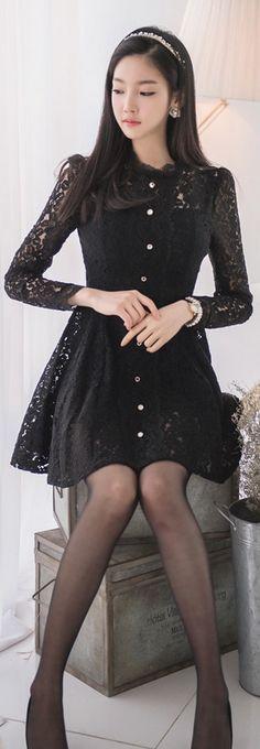 the little black dress Cute Fashion, Girl Fashion, Womens Fashion, Style Fashion, Women's Fashion Dresses, Sexy Dresses, Fashion Clothes, Japan Fashion, Beautiful Asian Girls