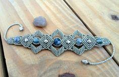 Dendrite Agate Macrame Bracelet by SelinofosArt on Etsy, €30.00