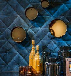 living room ideas – New Ideas Bar A Vin, Hague Blue, Modern Interior, Interior Design, Color Inspiration, Tiny House, Wall Lights, New Homes, Bedroom