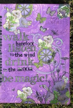 Art Journal page using #DistressOxides and #EnchantedGarden collection by #BoBunny and rub-ons that I have had forever.