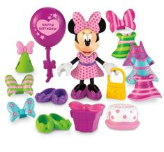 "Toys ""R"" Us - Fisher Price - Minnie Mouse - Birthday Bow-tique (varios modelos) Minnie Mouse Play Doh, Mickey Mouse Clubhouse, Minnie Mouse Party, Mouse Parties, Minnie Toys, Disney Toys, Toys R Us, Kids Toys, Baby Toys"