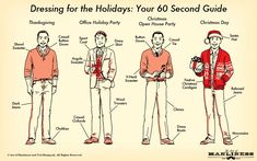 Dressing for the Holidays: Your 60-Second Illustrated Guide