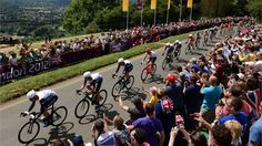 Team GB on the Box Hill climb, London 2012. Come on Wiggo!