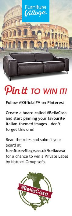 Pin it to Win it! #competition #bellcasa #sofa