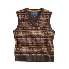 Joules Overton Mens Tank Top - £59.95 www.countryhouseoutdoor.co.uk - This tank top is crafted from 100% wool and the Fair Isle pattern contains a gathering of colours that truly capture the spirit of the season. Perfect to pull on over a shirt and add some autumnal flair to your look.