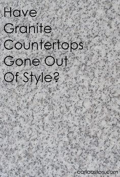 Kitchen #countertops - #granite or something else? Some food for thought!