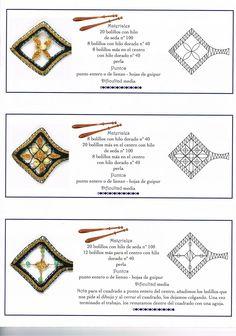 renda de bilros / bobbin lace Bijuteria / jewellery - from Álbumes web de Picasa picasaweb.google.com Lace Patterns, Jewelry Patterns, Picasa Web Albums, Lace Jewelry, Lace Making, Bobbin Lace, Wool Yarn, Tatting, Needlework