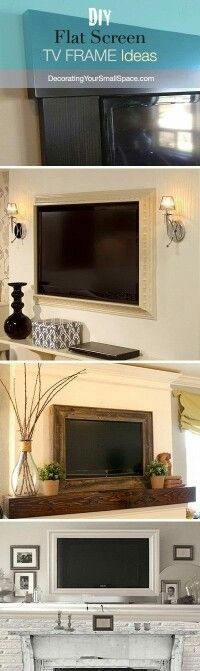 I love this idea for mounting the TV on the wall.