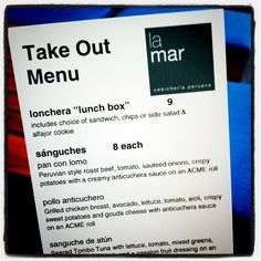 La Mar - Peruvian food with excellent ceviche and potato dishes on the Embarcadero in San Francisco