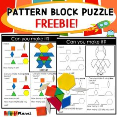Using pattern blocks and pattern block activities in my classroom. With a fun freebie. Fun Math Games, Work Activities, Math Patterns, Cool Patterns, What Is Pattern, Classroom Routines And Procedures, Math Blocks, Teaching Shapes, Math Tools