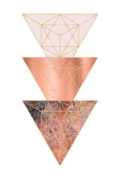 Geometric design in blush pink, copper and rose gold Rose Gold Wallpaper, Pastel Wallpaper, Geometric Wallpaper, Wallpaper Iphone Cute, Aesthetic Iphone Wallpaper, Aesthetic Wallpapers, Geometric Designs, Geometric Art, Pretty Wallpapers