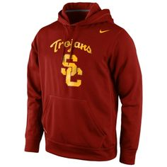 USC Trojans Nike Warp Logo Therma-FIT Hoodie - Crimson