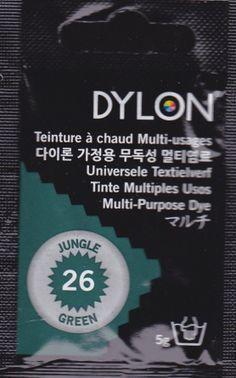 Teinture multi-usages Dylon vert jungle N°26 (=capsule)
