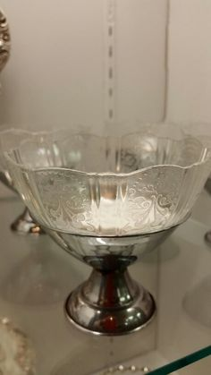 Gorgeous antique silver and glass ice cream dishes @ Un-Earthed Treasure