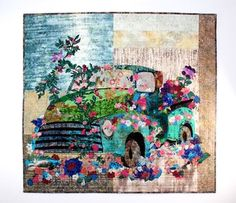 Old Blue Collage Kit By Laura Heine Quilting Pinterest