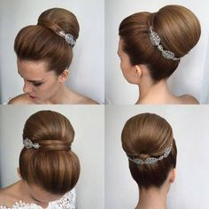 Paulo Persil, in 2020 Sleek Hairstyles, Pretty Hairstyles, Braided Hairstyles, Wedding Hairstyles, Medium Hairstyle, Bridesmaid Hair Half Up, Prom Hair, Hair Up Styles, Medium Hair Cuts