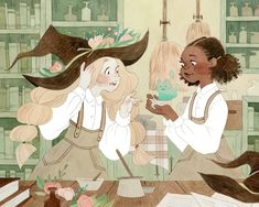Even witches have lab partners! What were your favorite subjects in school? Mine… Even witches have lab partners! What were your favorite subjects in school? Mine were – predictably – English and art, but I also liked science. Art And Illustration, Arte Inspo, Kunst Inspo, Fantasy Kunst, Fantasy Art, Pretty Art, Cute Art, Art Fractal, Film Manga